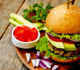 המבורגר לצמחונים צילום: shutterstock