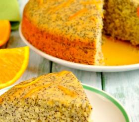 עוגת פרג ותפוזים צילום: shutterstock